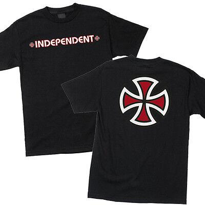 Independent Bar And Iron Cross Logo Skateboard Tee T Shirt Black S M L Xl Xxl