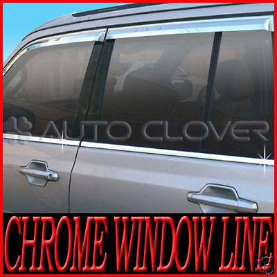 Fits Mercedes Benz C 01-07 Chrome B-Pillar Door Cover Window Mirror Trim BP
