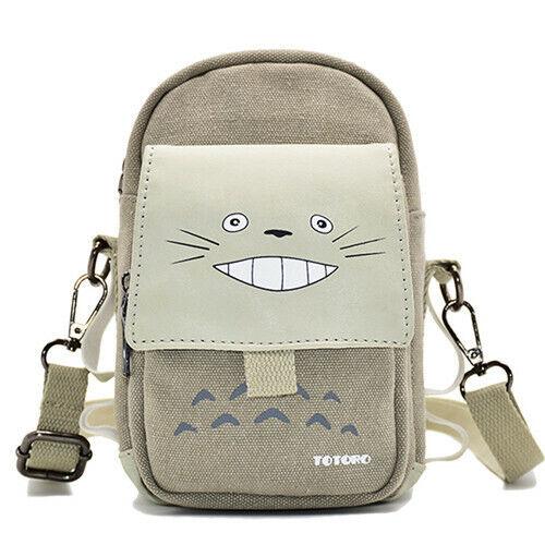 Anime My Neighbor Totoro Shoulder Messenger Bag & Canvas Waist Bag Phone Bag