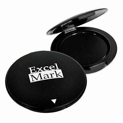 New Excelmark Black Inkless Thumbprint Pad 1-12 Diameter Fingerprint Pad