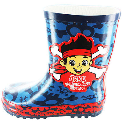Jake And The Neverland Pirates Boys Wellington Boots, Disney Wellies - Size - Jake And The Neverland Pirate Boots
