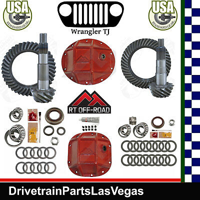 Jeep TJ Dana 35 30 Ring Pinion Re-Gear Pkg RT OffRoad HD Covers Pinion Kits 4.11 Dana 30 Standard Differential