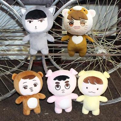 Kpop EXO xoxo planet #2 EXO Plush Toy chanyeol chen kai suho sehun Doll New