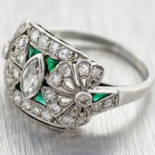 antique emerald ring ebay