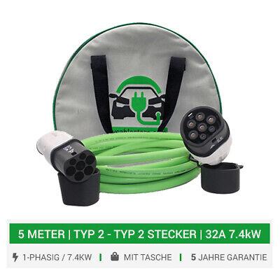 Smart Ladekabel (Ladekabel für Smart EQ Fortwo, Smart Forfour Ladekabel 7.4KW Ladegerät, 5 Meter)