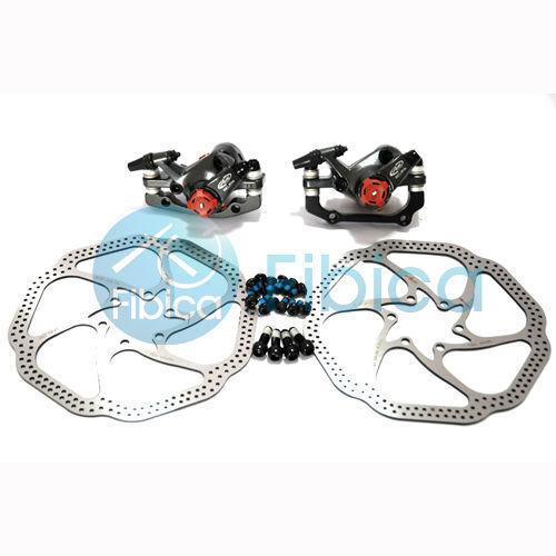 New Avid BB7 Mountain Mechanical Disc Brake Calipers+HS1 rotors 160mm