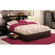 Platform Bed Queen Black