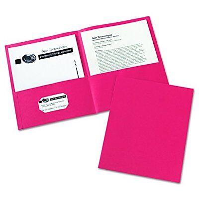 25 Set Office Paper File Two Pocket Folders Business Card Holder Info Dark Red