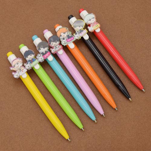 Pop KPOP Bangtan Boys BTS Wings Gel Ink Pen Roller Ball Pen Sugar V JIMIN Fan