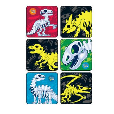 25 Dinosaur Bones Glow in the Dark STICKERS Party Supplies Favors Birthday ()