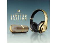 Dr Dre. Beats Gold Wireless Studio Headphones + Pill Limited Edition