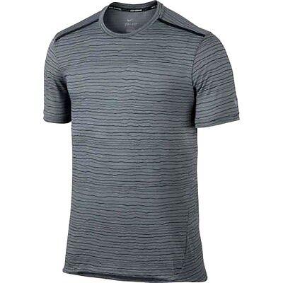 4b648da2f Nike sz M Men's Stay Cool TAILWIND Running Shirt NEW $55 872018 065 Grey  Black