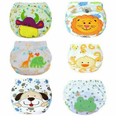 6er Pack Wasserdicht Baby Trainerhose Windelhöschen Unterhose Töpfchentraining