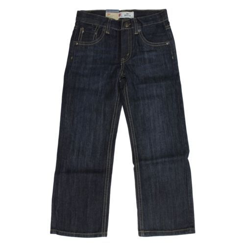 Levi's 505 Straight Leg Regular Fit Jeans for Boys Adjustabl
