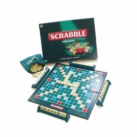 Scrabble board game - used twice ever!