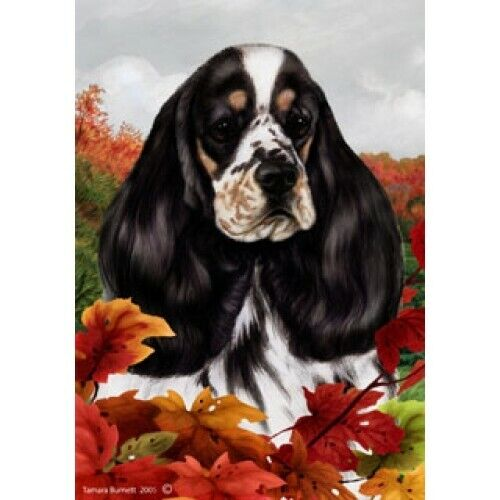 Fall House Flag - Parti Cocker Spaniel 13207