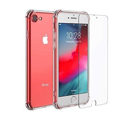 Funda antigolpes iPhone 6s Transparente reforzada + protector cristal templado