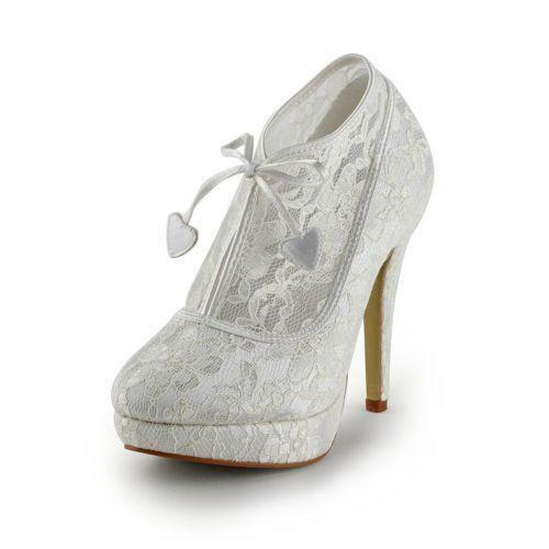 Lace Wedding Boots Ebay