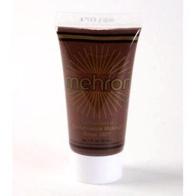 MEHRON WOLFMAN BROWN FANTASY F-X FACE PAINT CREAM BASED MAKEUP 1 fl. oz.(30 ml.) - Werewolf Face Paint Halloween
