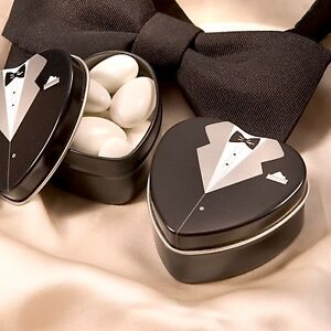 Tuxedo Groom Mint Tin Favor Wedding Bridal Shower Gift Favors