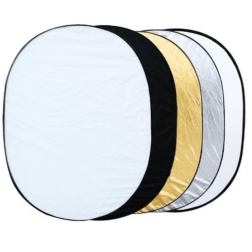 "5 in 1 collapsible reflector oval photo studio 90 x 120 cm (35 ""x 47 ')  BT Y6A4"