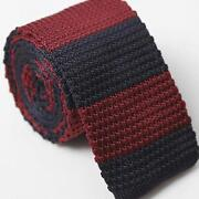 Red Blue Stripe Tie
