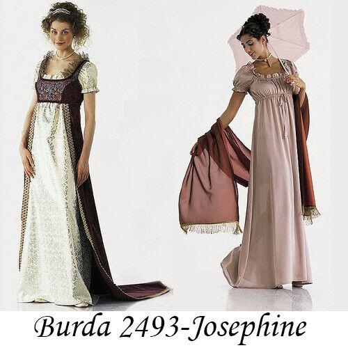 Burda 2493 Sewing Pattern Costume Historical Regency Dress OOP 4011199024933