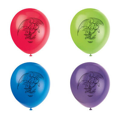 HOW TO TRAIN YOUR DRAGON 3 Hidden World BALLOONS (8) ~ Birthday Party - Dragon Balloons