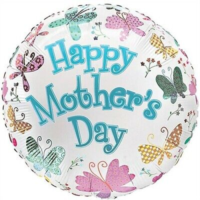 Butterflys Happy Mothers Day Foil Balloon Mothers Day Gift Present Decoration (Mothers Day Decorations)