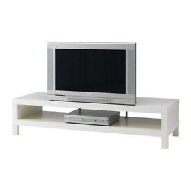 Ikea Lack TV bench with metal supports