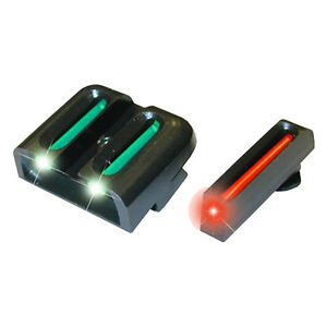 TRUGLO Glock Fiber Optic Brite Site Sight Set Red Front and Green Rear - TG131G1