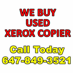 We Buy Used Xerox Copier Sell Used Copy Machine Photocopier