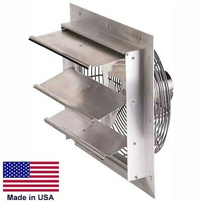 20 Exhaust Fan - Shutter Mount - 115 Volts - 14 Hp - 2830 Cfm - Alum - 1 Ph