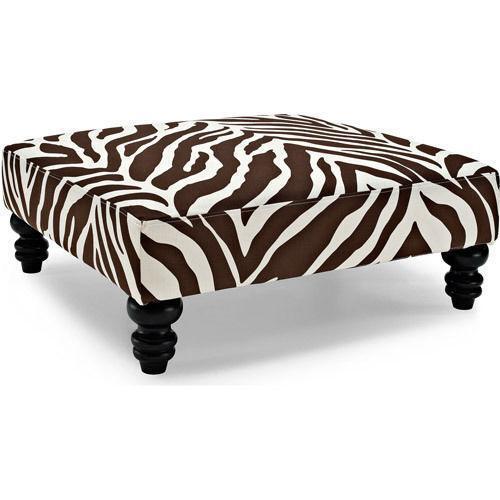 Zebra Ottoman Ebay