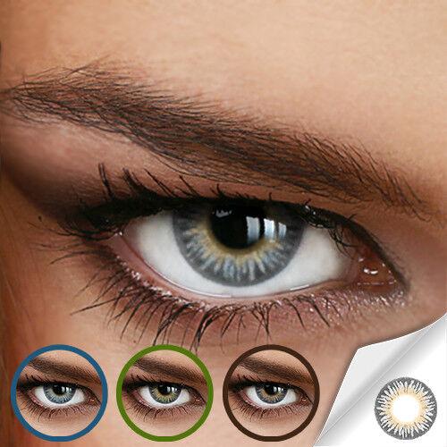 Jahres Farbige Kontaktlinsen RAINBOW GRAY (DREAMY GRAU) - (+/- 0.00 ohne Dioptri