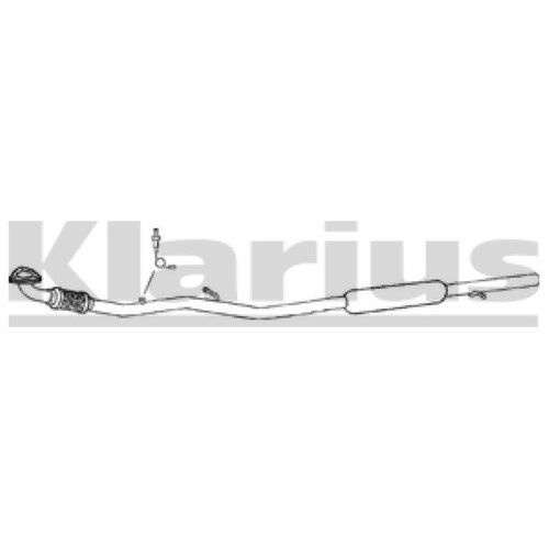 1x KLARIUS OE Quality Replacement Middle Silencer Exhaust For OPEL, VAUXHALL