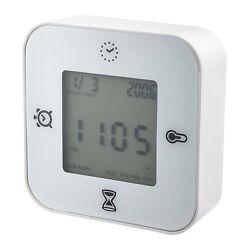 Ikea Klockis Clock / Thermometer / Alarm / Timer New
