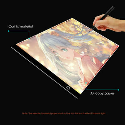 A3 A4 LED Ultra Slim Art Craft Drawing Copy Tracing Light Box Pad Board Pad Kids