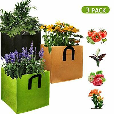 EIIORPO Plant Bags 3 Pack Colorful Mix Durable Grow Bags 3/5/7/10/20 Gallon N...
