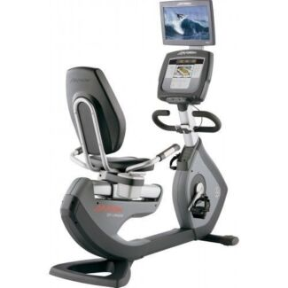 NEAR NEW LIFE FITNESS 95R RECUMBENT EXERCISE BIKE WITH HD TV Osborne Park Stirling Area Preview