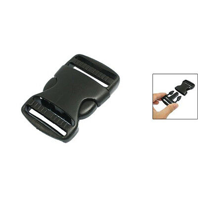 "1 1/2"" Replacement Belt Connecting Black Plastic Quick Release Buckle AD"