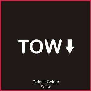 tow decal 2 vinyl sticker graphics renaultsport clio car n2053 ebay. Black Bedroom Furniture Sets. Home Design Ideas