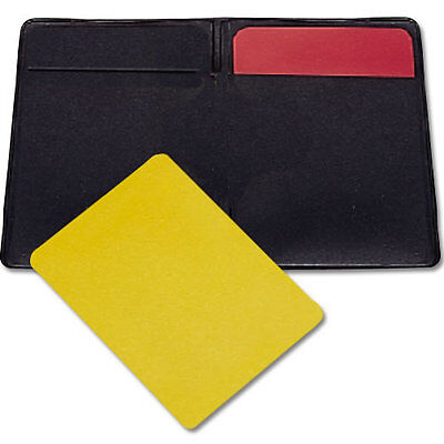 Red and Yellow Penalty Cards w/ Vinyl Wallet