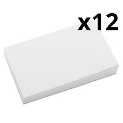 Unruled Index Cards 3 X 5 White 500pack Pack Of 12