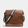 New COACH F28576/72362 Charles Men Small Messenger Shoulder Crossbody Bag Saddle