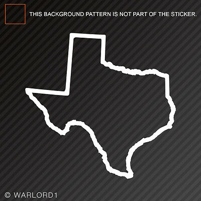 Texas Outline Sticker Self Adhesive Vinyl Decal TX