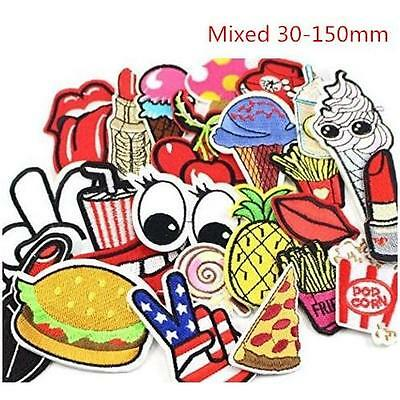 24pcs random assorted Iron-on or Sew-on Embroidered patch Motif Applique New