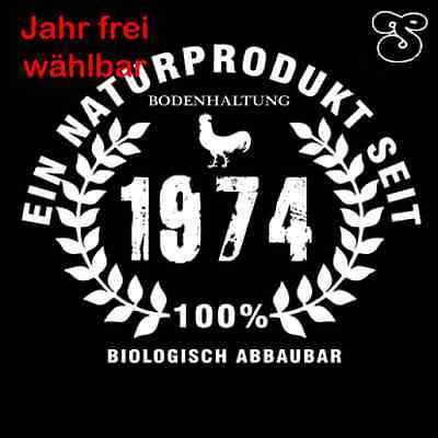 ICH BIN EIN NATURAL PRODUCT SINCE DESIRED YEAR BIRTHDAY Hooded Sweatshirt S-XXL
