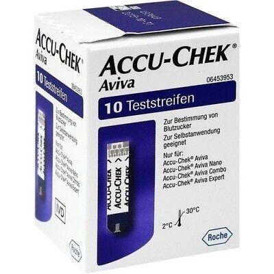 ACCU CHEK Aviva Teststreifen Plasma II 10 St Roche Diabetes Care Deutschland