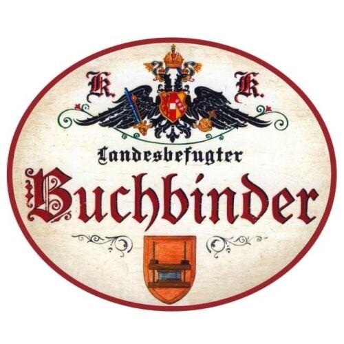Buchbinder Nostalgieschild